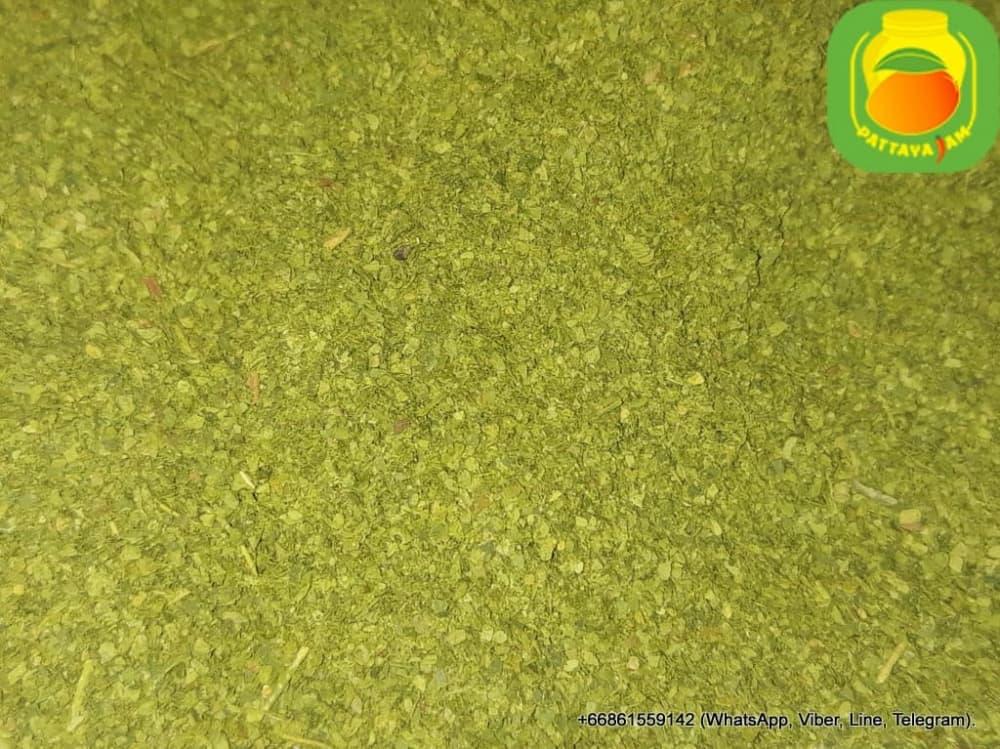 Порошок фруктовый, из листьев бергамота (Каффир-лайм), натуральный, косметический. Добавка в мыло.