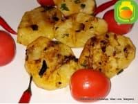 Картофель печёный, на углях.