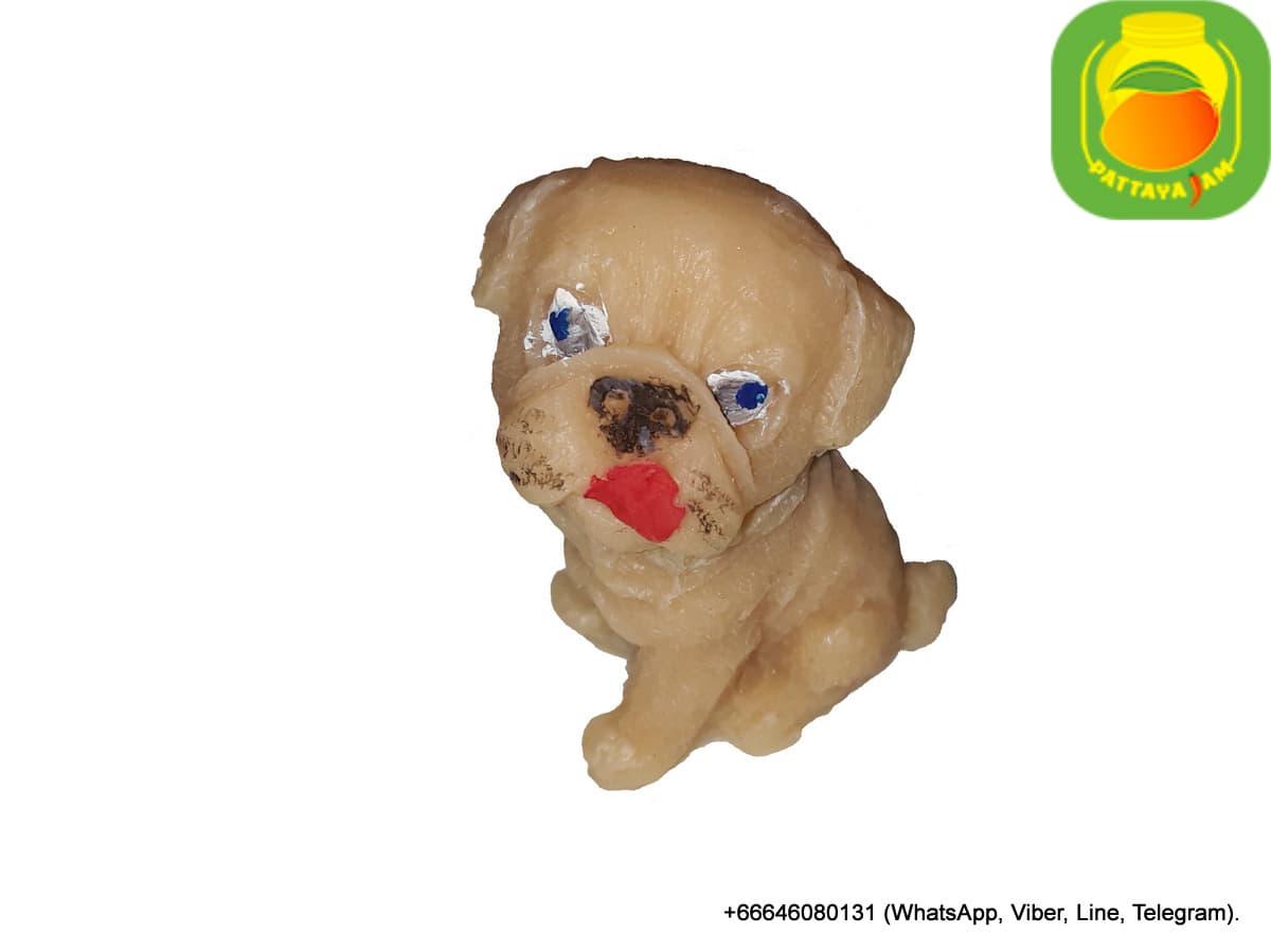 Мыло ручной работы Собака Бульдог, в куполе, в Паттайе.