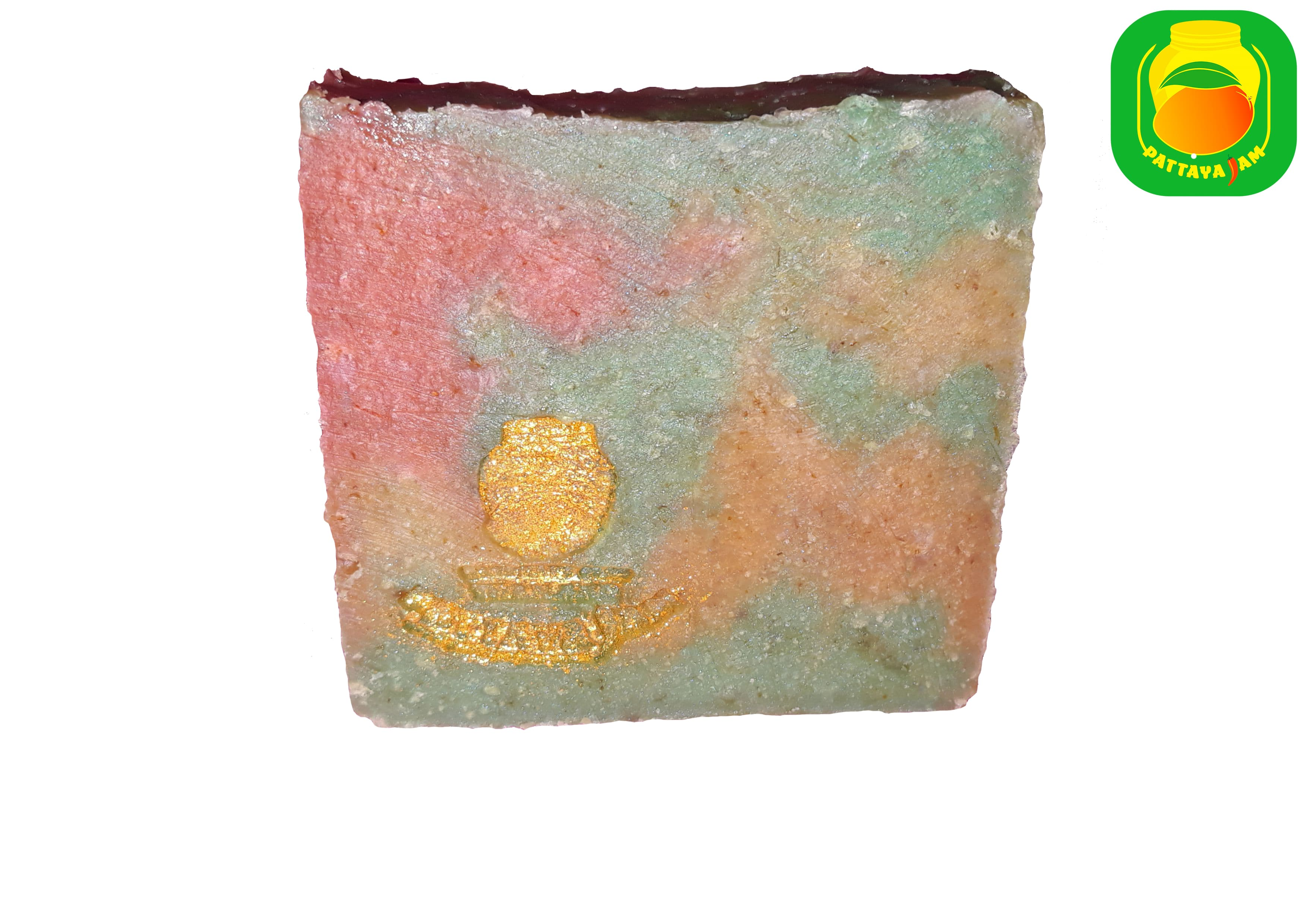 Шелковое мыло-скраб ручной работы бергамот - эвкалипт.